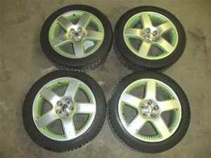 01 05 Volkswagen Beetle 17 Wheels Rims w Tires Set 4