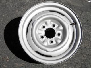 Car 5 Factory Original 15 Riveted Wheels Rims 4 Hub Caps RARE