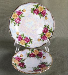June Rose Salad Plate and Saucer, UCAGCO, Norleans, Japan Flower of