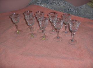 Vintage Nachtmann Lead Crystal Bleikristall Cordial Glasses