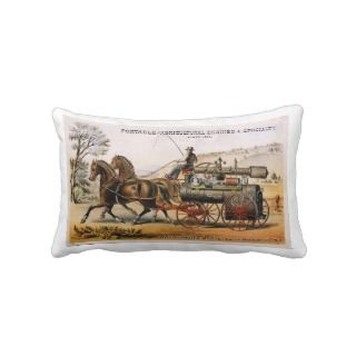 Wood, Taber & Morse, Portable Steam Engine. Pillow