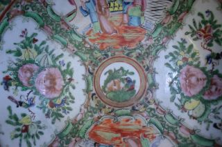 Antique Chinese Porcelain 1920s Canton Large Bowl Famille Rose Made in