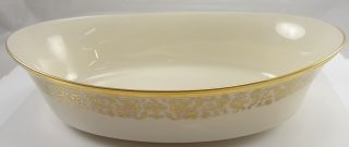 Lenox Tuscany Fine China Vegetable Bowl Gold Trim Mint