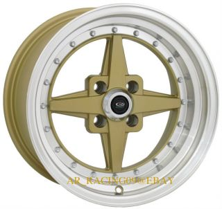 15 Rota 15x8 Zero Plus Gold Del Sol Miata Protege SI