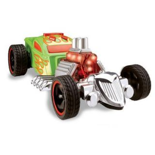Hot Wheels Super Stunt Rat Bomb Dragster Toy Lights Up & Makes Sounds
