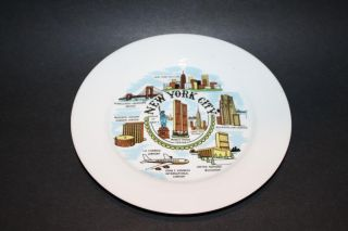 75 New York City Collector Plate Twin Towers Souvenir JFK Skyline