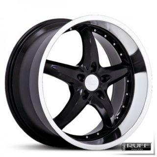 18 Black Wheels Rims Mustang 350Z Chrome SS Deep Lip