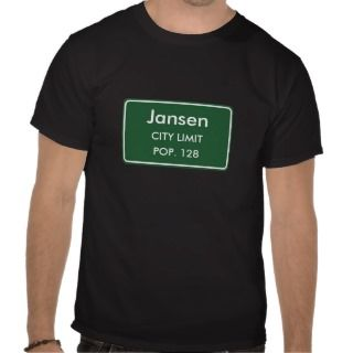 Jansen, NE City Limits Sign Shirts