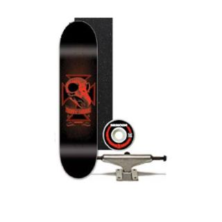 Features of Tony Hawk Birdhouse Red Skull 7.6 Skateboard Deck Complete