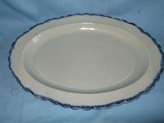 Antique Georgian Pearlware Feather Edge Fish Platter