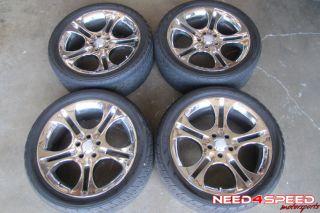 Momo Vantage Range Rover HSE Chrome Wheels Rims Yokohama Tires