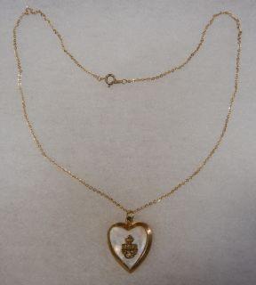 ORIGINAL WW2 VINTAGE 1/20 10K MOTHER of PEARL U.S. NAVY SWEETHEART