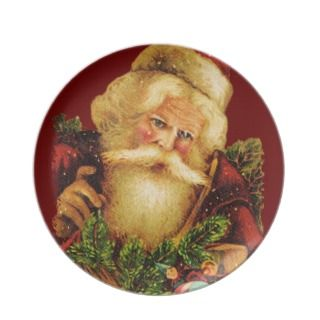 Victorian Santa Claus with Gifts Christmas Plate
