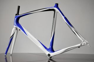 Carbon Frame & Fork Road Bike Frameset Blue/White Painting Colors 58CM