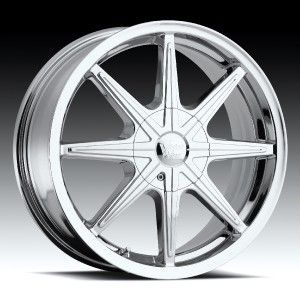 16 inch Vision 378 Kryptonite Chrome Wheels Rims 5x110
