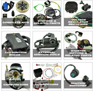 rectifier, cdi box items in STATOR store on