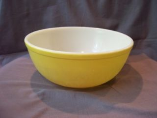Mixing Bowl Glass Vtg Pyrex 4qt Primary Yellow 404