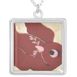 Crimson sparrow bird necklace