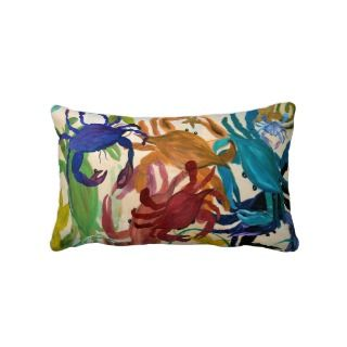 Crab Party Lumbar pillow art