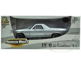 of 1970 Chevrolet El Camino SS 454 Silver die cast car model by ERTL