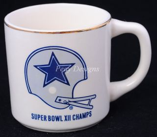 Vintage 78 Dallas Cowboys Super Bowl XII Coffee Mug