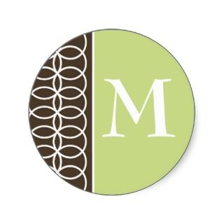 Green and Brown All Occasion Sticker