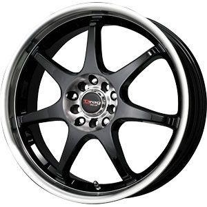 New 18X7 5 100/5 114.3 DR 51 Gloss Black Machined Lip Wheel/Rim