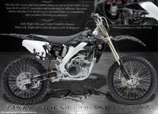 Honda 2004 2009 CRF250 CRF250R Graphics Decals Kit Inevitable Death