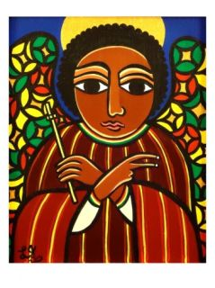 Guardian Angel (Stained Glass),2010 Giclee Print by Laura James at Art