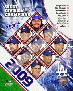 2009 Los Angeles Dodgers NL West Champions Photograph