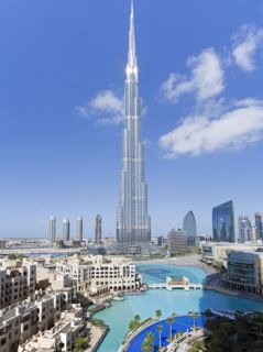 The Burj Khalifa, Completed in 2010, the Tallest Man Made Structure in