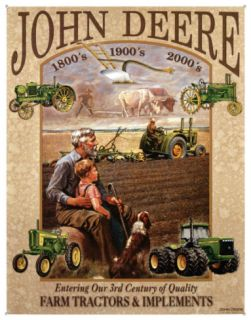 John Deere 3rd Century Tin Sign