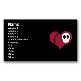 Skull Heart Business Cards