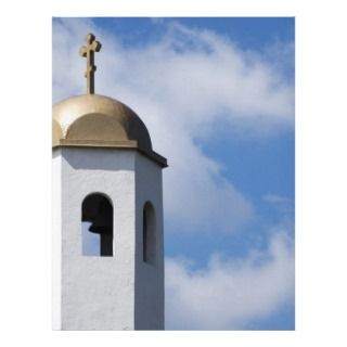 Church Tower and Cross Letterhead Design