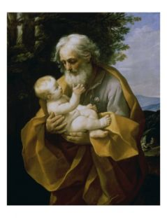 St. Joseph with the Jesus Child Giclee Print by Guido Reni