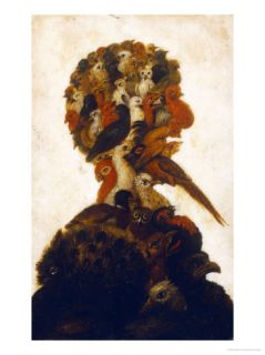 Anthropomorphic Head Representing One of the Four Elements, Air Giclee Print by Giuseppe Arcimboldo