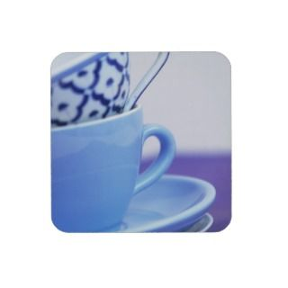 Coffee cups and saucers beverage coasters