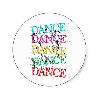 Dance Dance Colourful Stylish Grudge Sticker