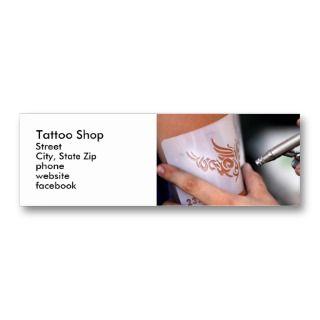 air brush tattoo business card