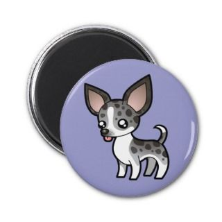Cartoon Chihuahua (merle smooth coat) magnets by SugarVsSpice