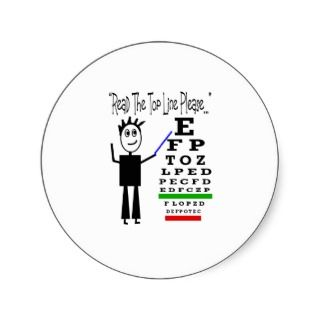 Eye Chart Eye Doctor Design Gifts Round Sticker