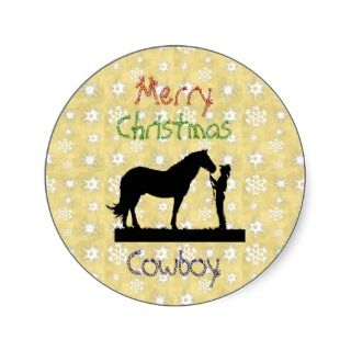 Christmas Collection Cowboy Horse Stickers