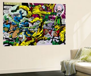 Black Panther #2 Group: Black Panther, Princess Zanda and Hatch 22 Laminated Oversized Art by Jack Kirby