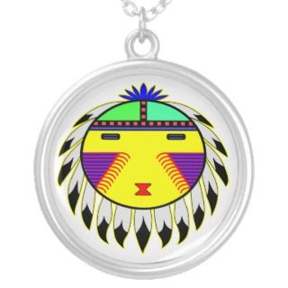 Native American Indian Sun Face Totem Necklaces