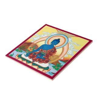 CERAMIC TILE  Medicine Buddha   The Healing Master