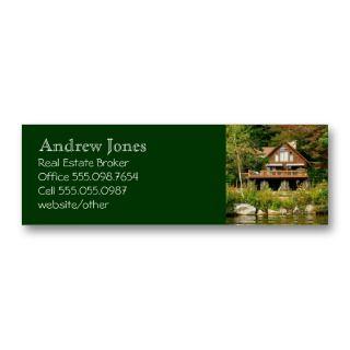 Log Cabin Realors Cusom Business Card