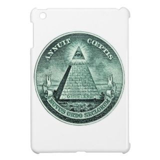 Eye On The Dollar Illuminati Pyramid iPad Mini Case