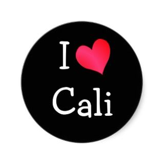 Love Cali Round Stickers