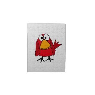 XX  Red Cardinal Bird cartoon Jigsaw Puzzles