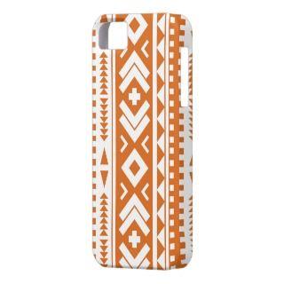 Burnt Orange Aztec Print Phone Case iPhone 5 Covers